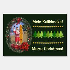 #promo Mele Kalikimaka Yard Sign #santa #christmas #xmas #hawaii #customize #YardSign #affiliatelink #merrychristmassigns #merrychristmas #holidaysigns #christmasdecor Merry Christmas In Hawaiian, Merry Christmas Sign, Santa Christmas, Christmas Bulbs, Xmas, Custom Yard Signs, Advent Season, Twelfth Night, Sign Display