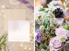 Lavender and Gold Rustic Luxe Styling - Modern Wedding