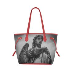 Dr Who Inspired Weeping Angel Canvas Tote Bag   #DrWho #WeepingAngels