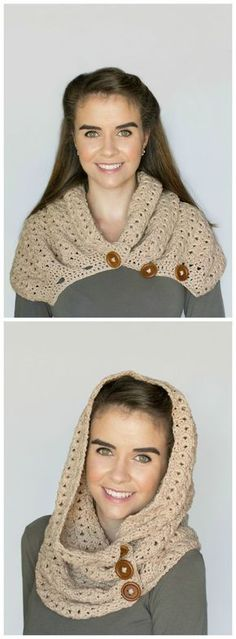 Free Crochet Pattern For Gorgeous Hideway Haven Hooded Cowl It Can