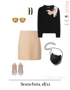 Previsão do Dia   Cintiah! Autumn Casual, Glamour, Complete Outfits, Office Outfits, Outfit Ideas, Lily, Women's Fashion, Polyvore, Clothes