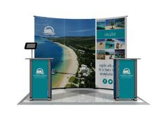 Back Wall Banner Stand Display