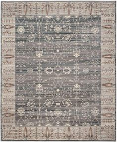 VAL118C Rug from Valencia collection.  VAL118C is a cool grey transitional rug from the Valencia Collection of area rugs by Safavieh, with classic motifs set in soft, luxuriously smooth textures.