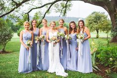 cascading ribbons on fresh bouquets of peach roses, white hydrangea, and seeded eucalyptus Seeded Eucalyptus, Bridesmaid Dresses, Wedding Dresses, Hydrangea, Ribbons, Wedding Events, Bouquets, Floral Design, Roses