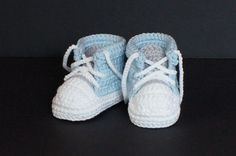 Crochet Baby Shoes,Crochet Baby Booties,Crochet Baby Tennis Shoes,Blue Baby Shoes, Baby Boy Shoes, Baby Boy Booties, Baby Tennis Shoes, Blue by jdurayful on Etsy