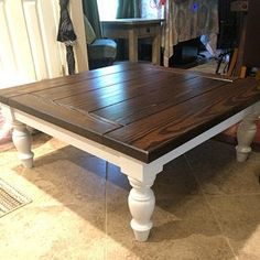 Pioneer Woodwerx, LLC added a photo of their purchase Coffee Table Redo, Painted Coffee Tables, Coffee And End Tables, Wooden Dining Tables, Rustic Table, Diy Furniture Renovation, Refurbished Furniture, Repurposed Furniture, Sofa Furniture