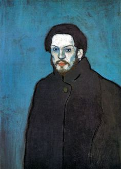Self portrait by Pablo Picasso - his blue period. #PabloPicasso #blueperiod
