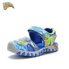 4052593cd Dinoskulls new 2019 summer kids shoes fashion beach sandals for boys girl  toddler sandals kids 3D Dinosaur Sandals