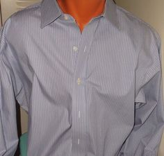 3XL 35 FRENCH BLUE Ed Garment Mens Long Sleeve Non Iron Dress Shirt