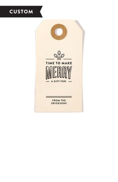 Make Merry Customized Holiday Gift Tag Stamp - perfect for Christmas gifts!