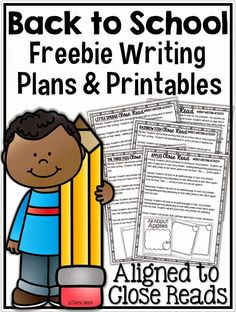 Freebie back to school writing templates {aligned to close reads}