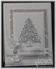 Silver & White Christmas Card