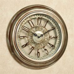 Illene Wall Clock Light Bronze