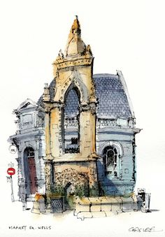 Market Square, Wells #urban #sketch #sketching #architecture #illustration