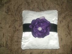 DIY ring bearer pillow.