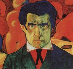 Self portrait. Kazimir Malevich 1910. Style Fauvism. Malevich experimented with a number of styles but is mainly known as a Russian Constructivist.