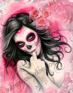 Day of the Dead – Original Canvas Art Print by Stuart Vimpani from Artistik Creations