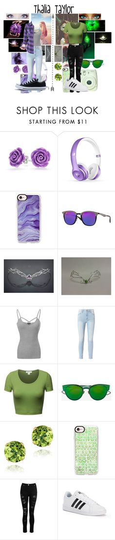 """""""Sisters by blood, friends by choice"""" by frootloop16 ❤ liked on Polyvore featuring Younique, Bling Jewelry, Casetify, Ray-Ban, Frame, Christian Dior, Glitzy Rocks, Dorothy Perkins, adidas and Converse"""