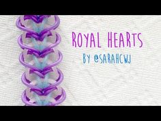 Rainbow Loom Bands Royal Hearts Bracelet by @SarahCJW - YouTube