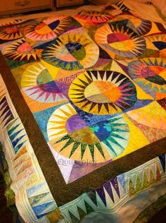 New York Beauty Quilts Photos | New York Beauty Quilt for a Long Island Friend | Quilted JoyQuilted ...