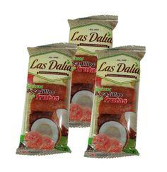 Bocadillos de frutas rellenos de arequipe paquetes x 3