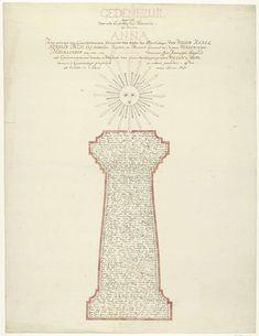 Gerrit Kamphuysen   Gedenkzuil voor prinses Anna bij haar erkenning als voogdes voor Willem V, 1751, Gerrit Kamphuysen, 1753   Gedenkzuil voor prinses Anna van Hannover bij haar erkenning als voogdes en gouvernante voor haar minderjarige zoon prins Willem V op 25 oktober 1751. Zuil waarboven een zon met zonnestralen gevormd door de uitgeschreven deugden van de prinses, in de zuil een uitvoerig handgeschreven vers.