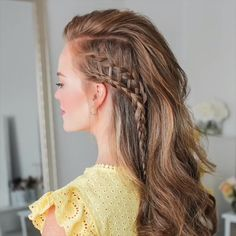 hair tutorial video, braided hairstyle # viking Braids women Braided Hairstyle for Long Hair Side Braid Hairstyles, Cool Hairstyles, Blonde Hairstyles, Medieval Hairstyles, Punk Rock Hairstyles, Side Braid Ponytail, Braid Crown, Side Braids, Dutch Braids