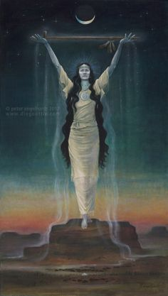 As the goddesses that we are during the end of this era of separation and disconnection, we are being called forth to deeply embody once again the gifts of our feminine essence and power, the code for which patiently resides within us, deep in our bones and our wombs.  - Art: whitebuffalocalfwoman-by Peter Engelhardt.jpg