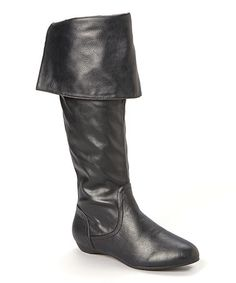 Look what I found on #zulily! Black Cuff Boot #zulilyfinds