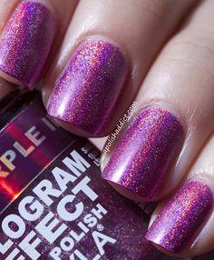 Layla Hologram Effects Purple Illusion