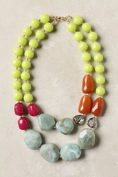Chunky color necklace