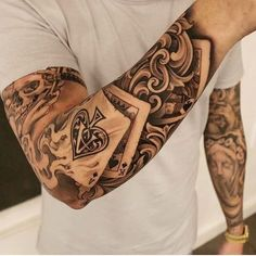 Grab your hot tattoo designs. Get access to thousands of tattoo designs and tattoo photos Badass Tattoos, Body Art Tattoos, New Tattoos, Tribal Tattoos, Mens Forearm Tattoos, Grace Tattoos, Poker Tattoos, Tatoos, Temporary Tattoos