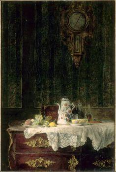 Intérieur, nature morte Denis Pierre Bergeret (1846-1910)