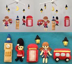 United Kingdom Theme Baby Mobile.