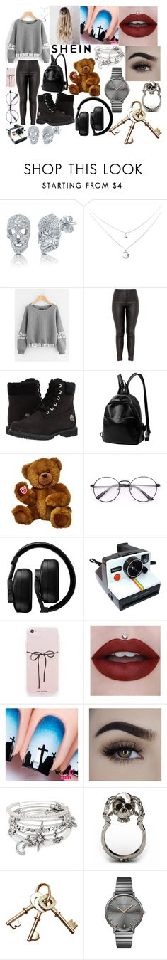 """""""Shein"""" by boredom-is-my-motivation ❤ liked on Polyvore featuring BERRICLE, Timberland, Master & Dynamic, Polaroid, Alex and Ani and Rebecca Minkoff"""