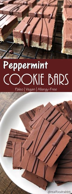 Peppermint Cookie Bars (Paleo, Vegan, Allergy Free)