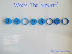 Bottle Top Math: Simple center activity for missing numbers. Adapt for missing addends.