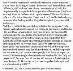 Harry Potter series, Rob Weasley and racism