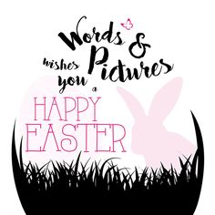 Typografie  |  WORDS & PICTURES Happy Easter, Hand Lettering, Words, Design, Typography, Happy Easter Day, Handwriting, Calligraphy