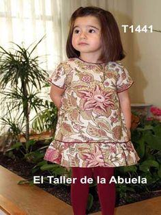 ropa de niños - vestido en estampado siva rosa de la colección de El Taller de la Abuela