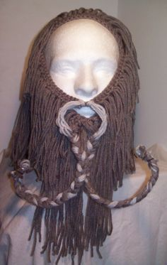 Oin.  some of his mustache strands have craft wire in them.  The lighter gray strands of unbraided mustache on top are actually hot glue-gun...