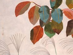 "福田平八郎 Fukuda Heihachirō (Japanese,1892 - 1974) | ""彩秋 Saishu (Autumn scene)"", 1943."