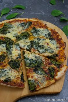 Spinat Gorgonzola Pizza - Katha-kocht!