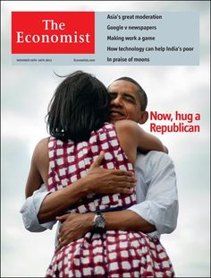 """Economist cover on Obama re-elect: """"Now, hug a Republican"""""""