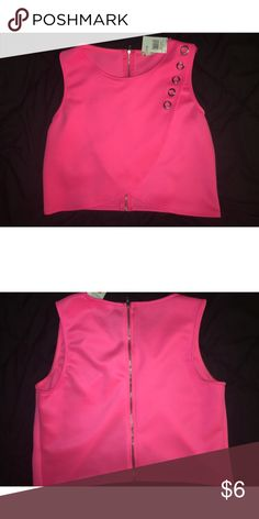 Neon Pink Crop Never been worn- tags attached Tops Crop Tops