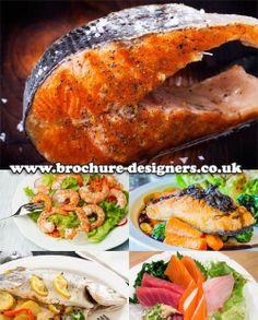 pan fried fish images suitable for fish restaurant menu design www.brochure-designers.co.uk #fishmenu #salmon #restaurantmenu