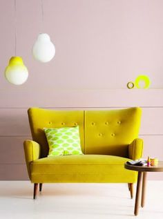 Bold Yellow Proves it can Work! Mid Cent Furniture