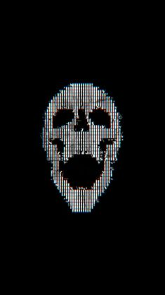 freeios8.com - bc71-digital-skull-dark-black-art-illustration-simple-minimal - http://bit.ly/2icFGep - iPhone, iPad, iOS8, Parallax wallpapers