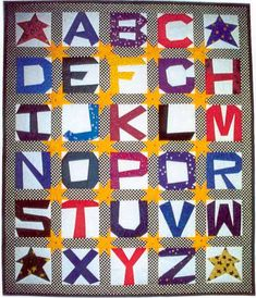 This is an ABC quilt that I am doing except I am adding a twist to it. I will post pics when I am done with mine.