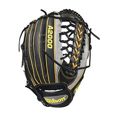Wilson Pedroia Fit Outfielder Right-Hand Throw Baseball Glove - Gray Baseball Glove Size, Baseball Gear, Better Baseball, Baseball Players, Baseball Gloves, Black N Yellow, Black And Grey, Gray, Leather Roll